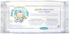 Earth Friendly Baby nedves törlőkendő aloe verával, 72 db