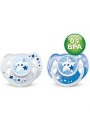 Avent Éjszakai cumi 6-18hó, BPA-mentes - vegyes színekben