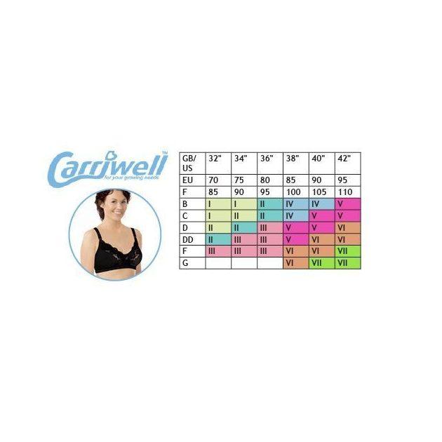 Carriwell Mikrofíber csipkés szoptatós melltartó V - fehér
