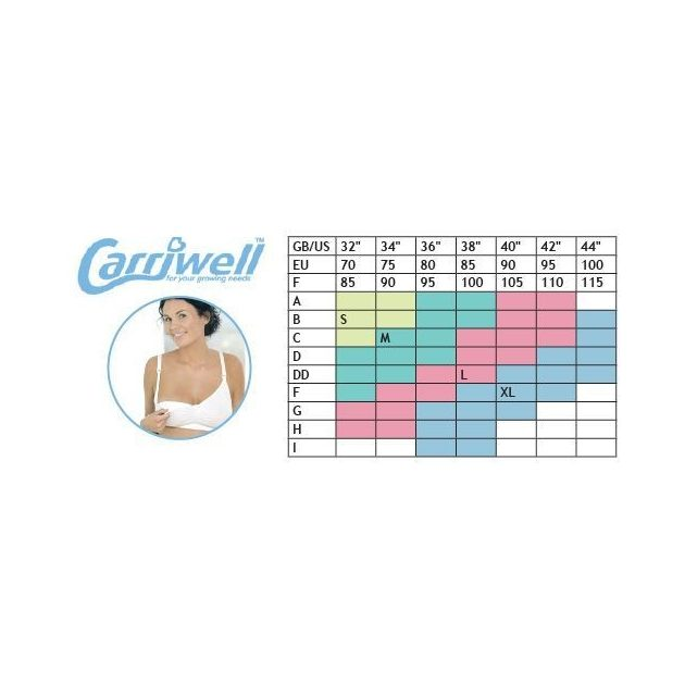 Carriwell Varrásnélküli szoptatós melltartó I./S - fehér     !! kifutó !!