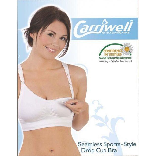 Carriwell Varrásnélküli betétes szoptatós melltartó M - fehér