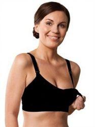 Carriwell Varrásnélküli betétes szoptatós melltartó XL - fekete