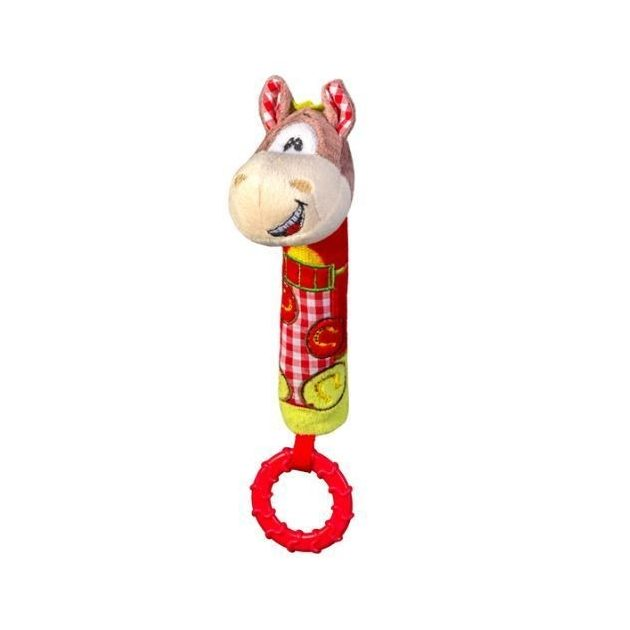 BabyOno plüss rágókás sípoló lovacska