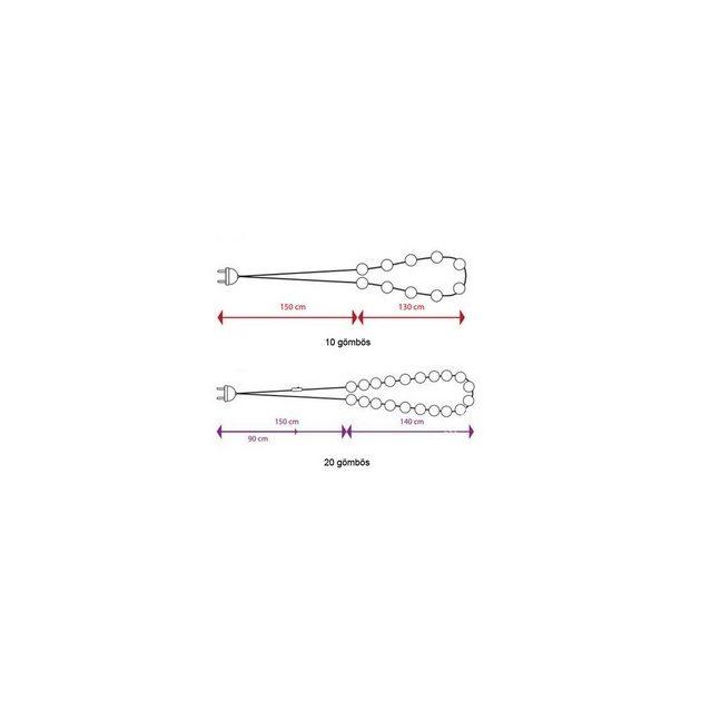 CBL lámpa 10 VE III. kategória - Pink-szürke