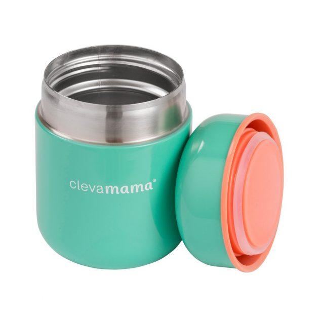 Clevamama étel termosz 250ml - rozsdamentes acél, csepegés mentes