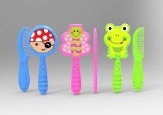 Baby Care Fésű és hajkefe - Green Frog / Békás