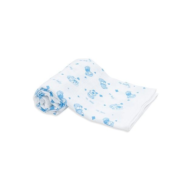 Scamp mintás kék macis textilpelenka 5db