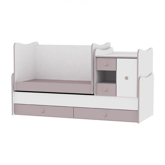 Lorelli MiniMax kombi ágy 72x190 - White & Cappuccino / Fehér & Cappuccino