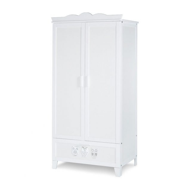 Klups Marsell 2 ajtós szekrény - fehér (bialy)