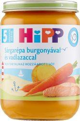 HIPP bébiétel - Sárgarépa burgonyával és vadlazaccal 190g