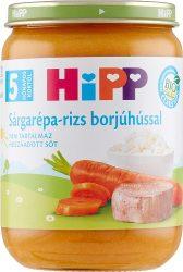 HIPP Sárgarépa - rizs borjúhússal 190g