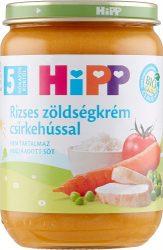 HIPP Bébi menük Rizses zöldségkrém csirkehússal 5 hó 190 g