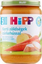 Hipp Bébi menük Kerti zöldségek csirkehússal 5 hó 190 g