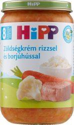HIPP bébiétel - Zöldségkrém rizzsel és borjúhússal 220g