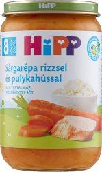 Hipp Junior menük Sárgarépa rizzsel és pulykahússal 8 hó 220 g
