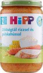HIPP bébiétel - Zöldségtál rizzsel és pulykahússal 220g
