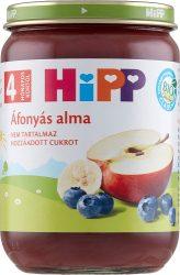 Hipp Gyümölcsök Áfonyás alma 4 hó 190 g