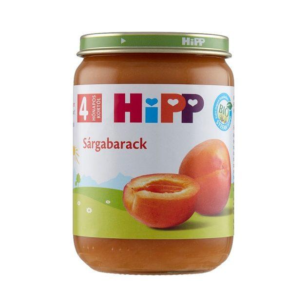 Hipp Gyümölcsök Sárgabarack 4 hó 190 g