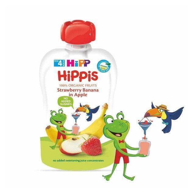 Hipp HiPPiS Eper-banán almában 4 hó 100 g