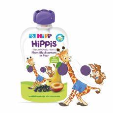 HIPP HIPPiS Szilva-feketeribizli körtében 6 hó 100 g