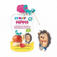 HIPP HIPPiS Alma-banán-málna teljes kiőrlésű gabonával 6 hó 100 g
