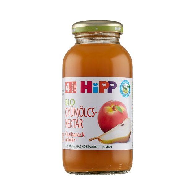 Hipp Gyümölcslevek Őszibarack nektár 4 hó 200 ml