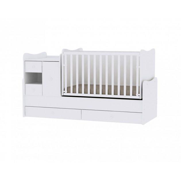 Lorelli MiniMax kombi ágy 72x190 - White / Fehér
