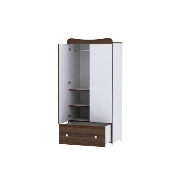 Lorelli Exclusive szekrény - White & Walnut / Fehér & Dió