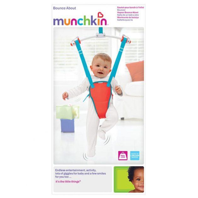Munchkin ajtóra akasztható hinta - piros és kék