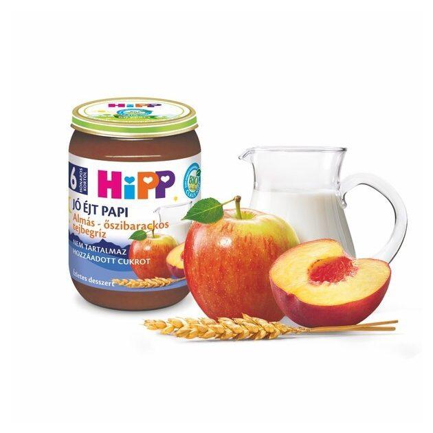 Hipp Jó éjt papi Almás-őszibarackos tejbegríz 6 hó 190 g