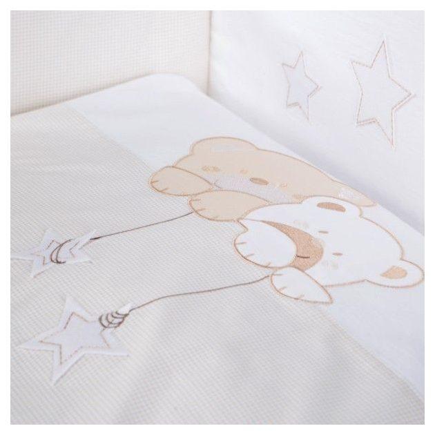 Albero Mio 3 részes ágynemű - H185 Macik csillaggal bézs-fehér