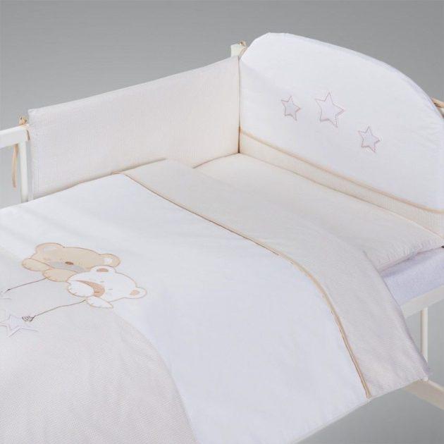 Albero Mio 5 részes ágynemű # Macik csillaggal szürke fehér