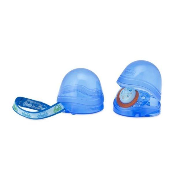 Chicco kétrekeszes cumitartó doboz - kék