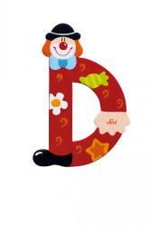 Sevi fa betűk - D - piros Bohóc