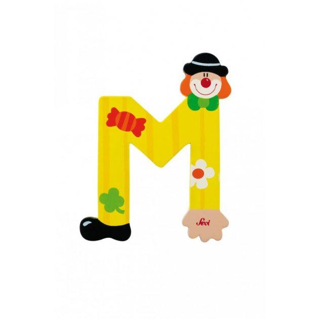 Sevi fa betűk - M - sárga Bohóc