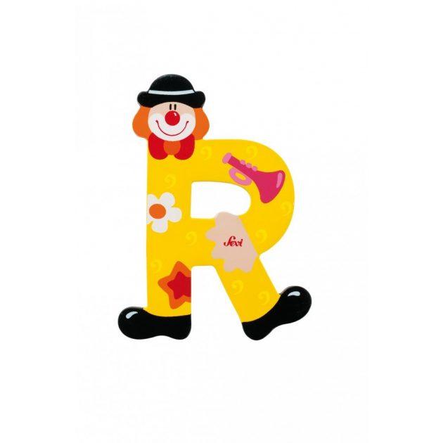 Sevi fa betűk - R - sárga Bohóc