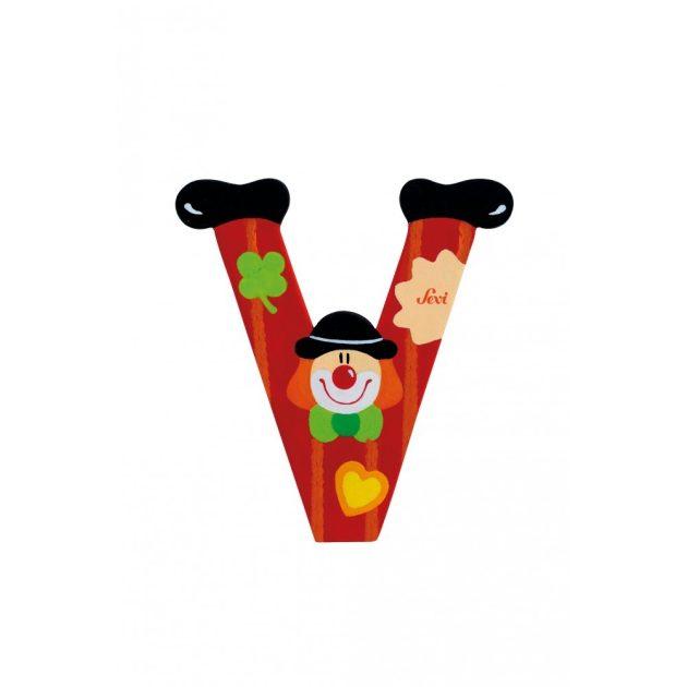 Sevi fa betűk - V - piros Bohóc