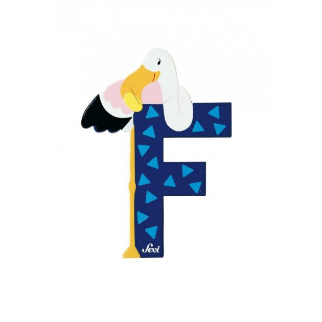 Sevi fa betűk - F - Flamingó kék