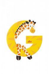 Sevi fa betűk - G - Zsiráf sárga