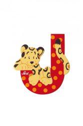 Sevi fa betűk - J - Jaguar piros
