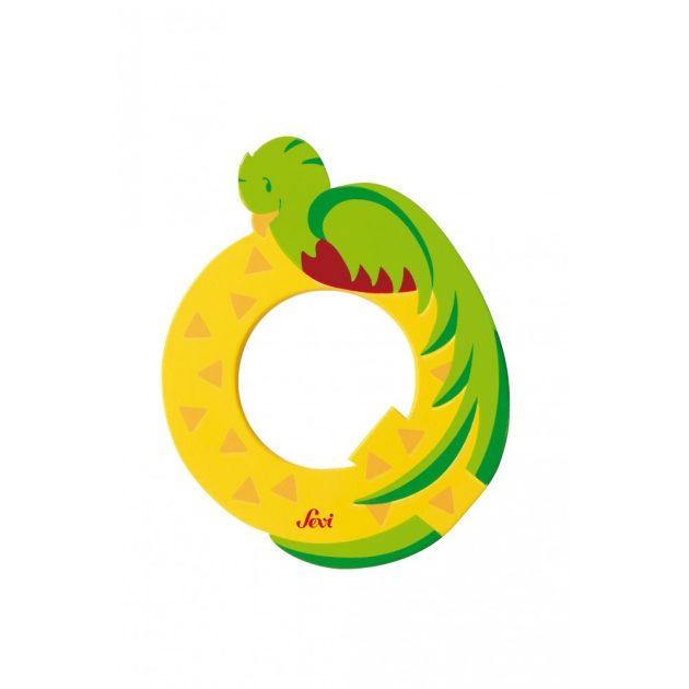 Sevi fa betűk - Q - Quetzal sárga kifutó