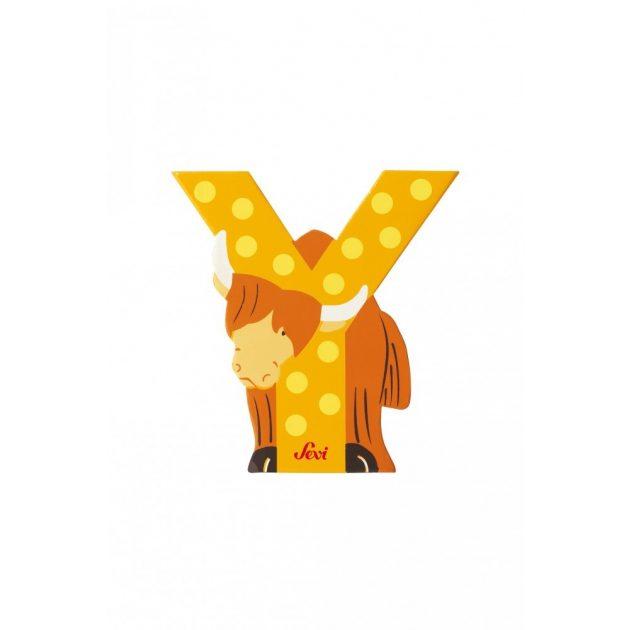 Sevi fa betűk - Y - Jak sárga kifutó