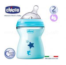 Chicco NaturalFeeling cumisüveg 250ml 2m+ - Kék