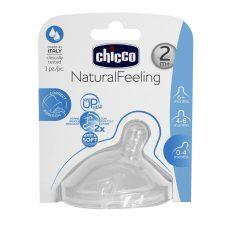 Chicco NaturalFeeling ferde etetőcumi, közepes folyású 2m+     !! kifutó !!