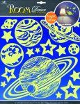 Room-Decor falimatrica Világítós bolygók 38X31cm