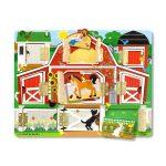 Melissa & Doug Fa készségfejlestő játék, mágneses bújócska ház