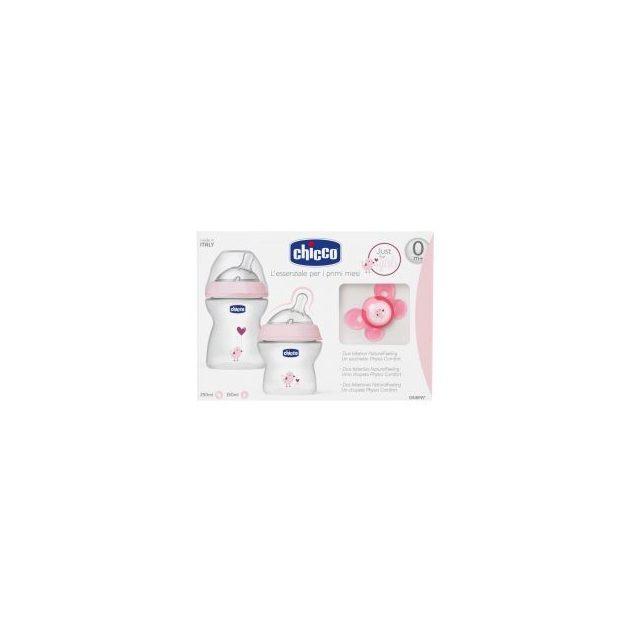 Chicco NaturalFeeling ajándék szett - Pink