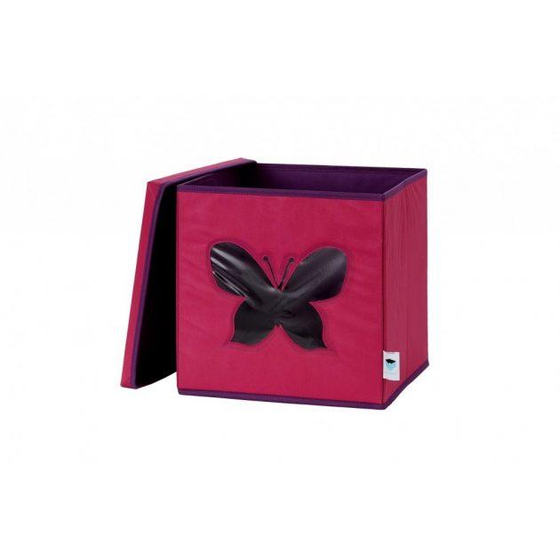 Store !T kocka tároló - Pink/pillangó AK
