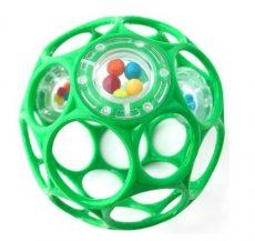 OBALL Rattle csörgős labda játék 10cm seafoam/zöld kifutó