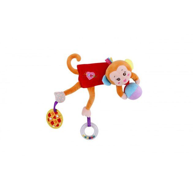 Lorelli Toys plüss babakocsi játék - majom